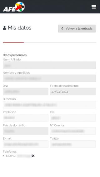 Intranet AFE (móvil)