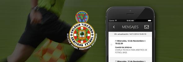 App oficial del Comité Vizcaíno de Árbitros de Fútbol