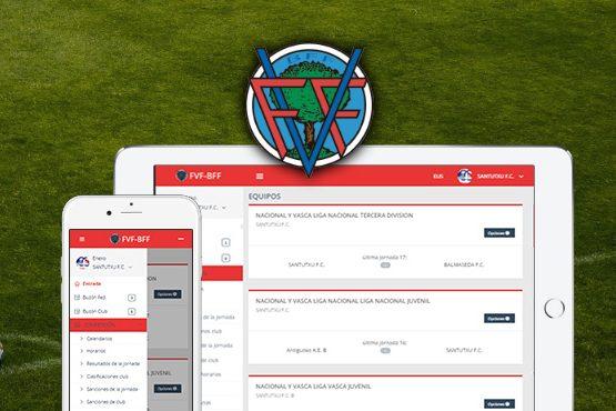 Nuevo diseño para la intranet de clubes de la Federación Vizcaína de Fútbol