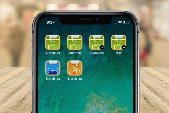 Apps de ejercicios de fútbol, balonmano y baloncesto para iOS y Android
