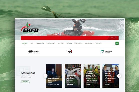 Nuevo portal web para la Uníon de Federaciones Deportivas Vascas